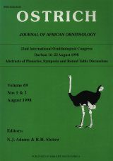 Proceedings of the 22nd International Ornithological Congress held in Durban, South Africa, 1998: Abstracts of Plenaries, Symposia and Round Table Discussions