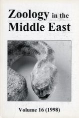 Zoology in the Middle East, Volume 16