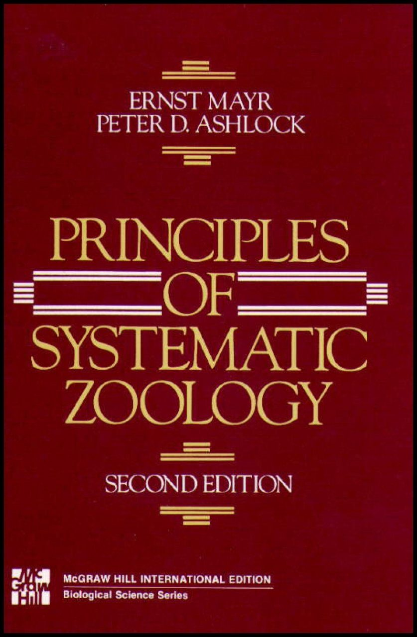 Zoology poster design - Principles Of Systematic Zoology