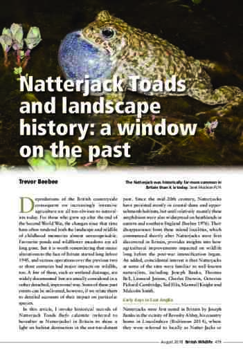 Natterjack Toads and landscape history: a window on the past