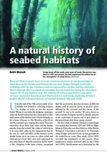 A natural history of seabed habitats