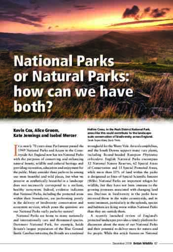 National Parks or Natural Parks: how can we have both?
