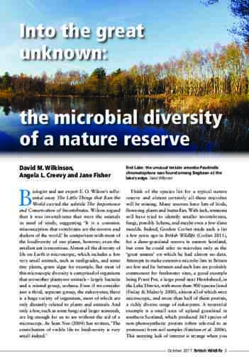 Into the great unknown: the microbial diversity of a nature reserve