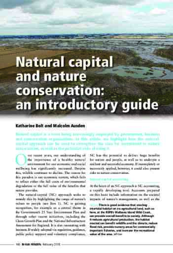 Natural capital and nature conservation: an introductory guide