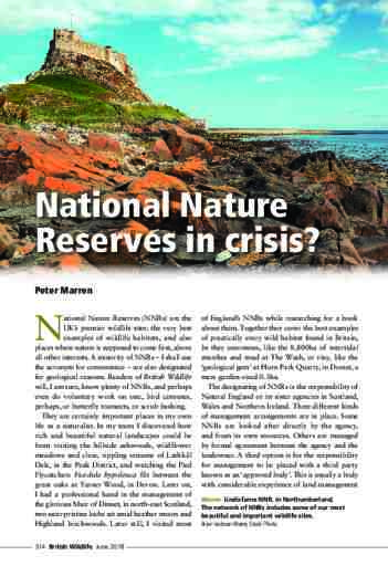 National Nature Reserves in crisis?