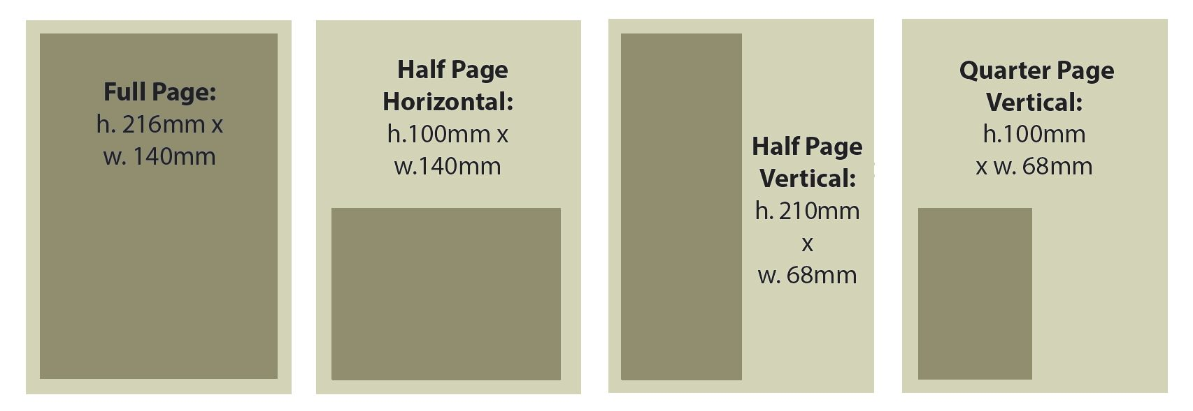 diagram of advert size dimensions