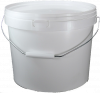 Plastic Bucket with Lid and Metal Handle
