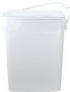 Square Plastic Pitfall Bucket with Plastic Handle and Lid