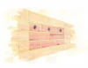 Terraced Sparrow Box - Smooth Brick