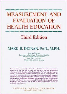 Measurement & Evaluation of Health Education
