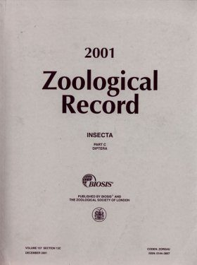 Zoological Record, Volume 137 (2000-2001)