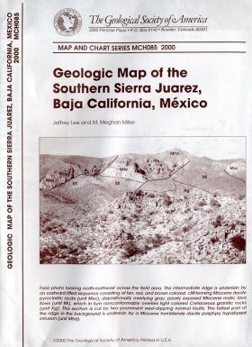 Geologic Map of the Southern Sierra Juarez, Baja California, Mexico