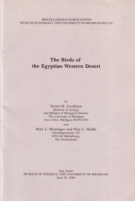 The Birds of the Egyptian Western Desert