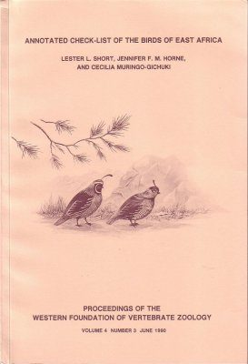 Annotated Check-list of the Birds of East Africa