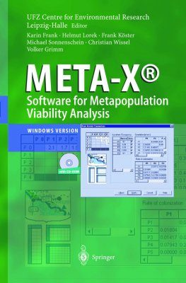 META-X - Software for Metapopulation Viability Analysis