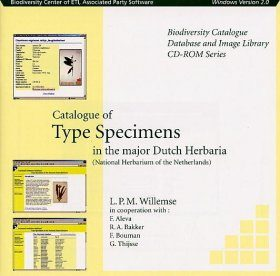 Catalogue of Type Specimens in the Major Dutch Herbaria