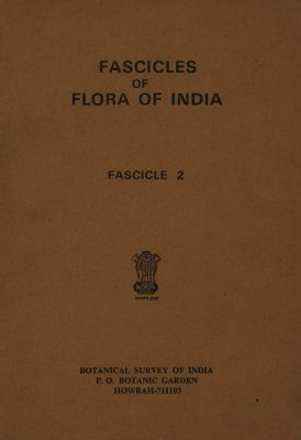 Fascicles of Flora of India, Fascicle 2