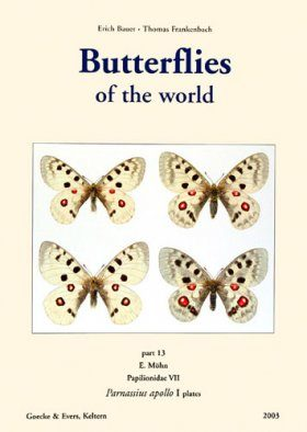 Butterflies of the World, Part 13: Papilionidae VII, Parnassius apollo I Plates