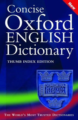 Concise Oxford English Dictionary: Cut Thumb Tab Edition