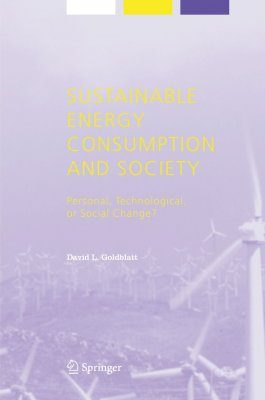 Sustainable Energy Consumption and Society