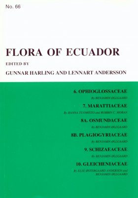Flora of Ecuador, Volume 66, Parts 6-10: Ophioglossaceae - Gleicheniaceae