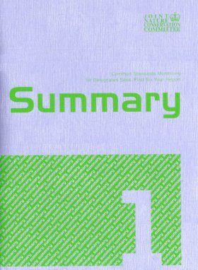 Common Standards Monitoring for Designated Sites: First Six Year Report 2006: Summary