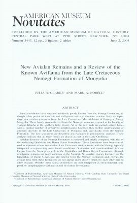 New Avialan Remains and a Review of the Known Avifauna from the Late Cretaceous Nemegt Formation of Mongolia