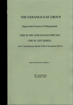 The Geraniaceae Group, Geraniales Species Checklist, Volume 1 (7-Volume Set)