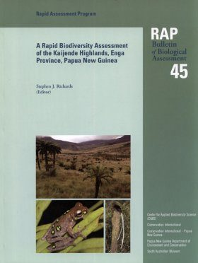 A Rapid Biodiversity Assessment of the Kaijende Highlands, Enga Province, Papua New Guinea