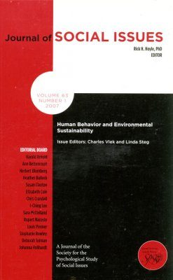 Human Behavior and Environmental Sustainability