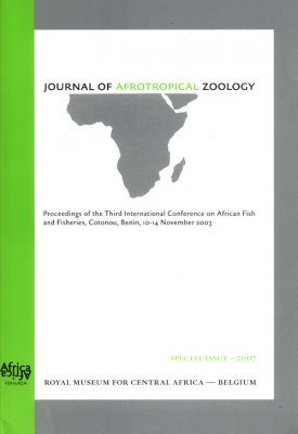 Proceedings of the Third International Conference on African Fish and Fisheries, Cotonou, Benin, 10-14 November 2003