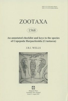 Zootaxa, Volume 1568: An Annotated Checklist and Keys to the Species of Copepoda Harpacticoida (Crustacea)