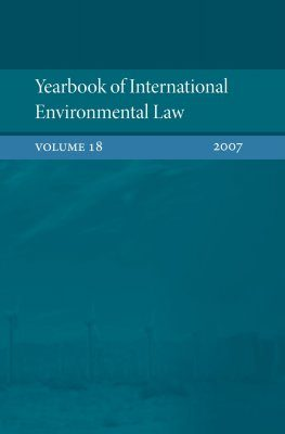 Yearbook of International Environmental Law, Volume 18, 2007