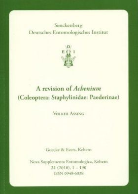 A Revision of Achenium (Coleoptera: Staphylinidae: Paederinae)