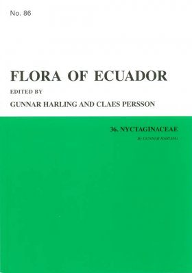 Flora of Ecuador, Volume 86, Part 36: Nyctaginaceae