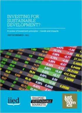 Investing for Sustainable Development?