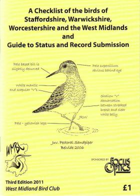 A Checklist of the Birds of Staffordshire, Warwickshire, Worcestershire and the West Midlands and Guide to Status and Record Submission