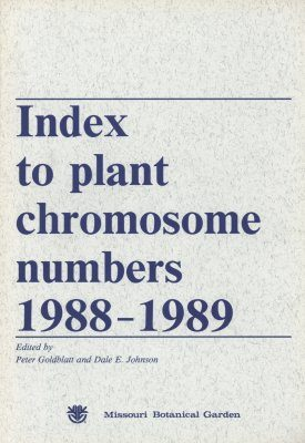Index to Plant Chromosome Numbers, 1988-1989
