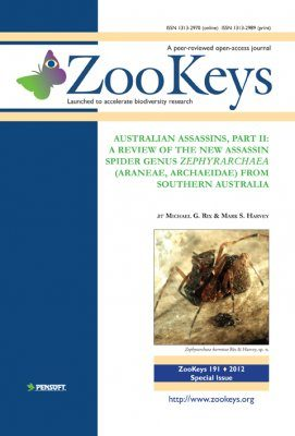 ZooKeys 191: Australian Assassins, Part II: A review of the new assassin spider genus Zephyrarchaea (Araneae, Archaeidae) from southern Australia