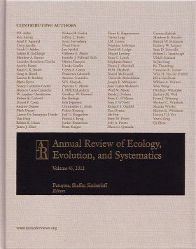Annual Review of Ecology, Evolution, and Systematics, Volume 43