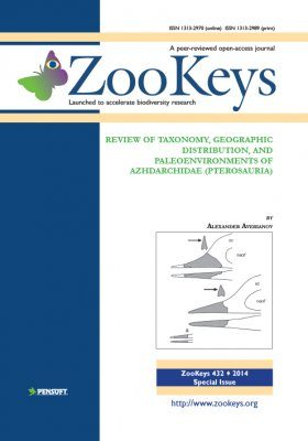ZooKeys 432: Review of Taxonomy, Geographic Distribution, and Paleoenvironments of Azhdarchidae (Pterosauria)