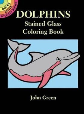 Dolphins Stained Glass Colouring Book