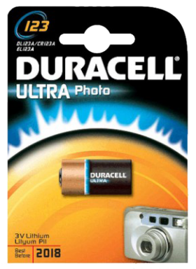Duracell CR123A Lithium Battery