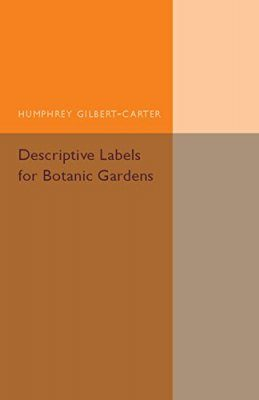 Descriptive Labels for Botanic Gardens