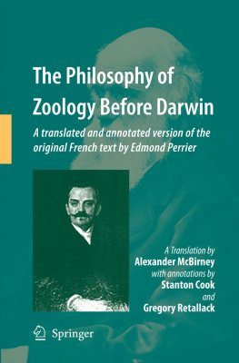 The Philosophy of Zoology Before Darwin