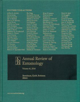 Annual Review of Entomology, Volume 61