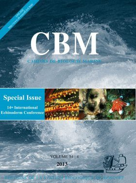 Cahiers de Biologie Marine, Volume 54(4): Special Issue 14th International Echinoderm Conference