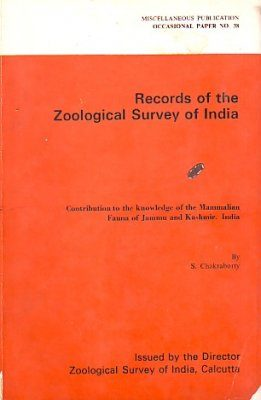 Contribution to the Knowledge of the Mammalian Fauna of Jammu and Kashmir, India