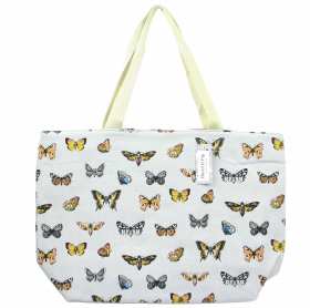 Large Butterfly print canvas bag
