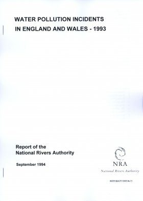 Water Pollution Incidents in England and Wales, 1993